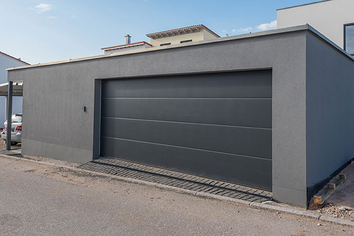 Porte de garage aluminium budget for Dimension standard porte de garage double